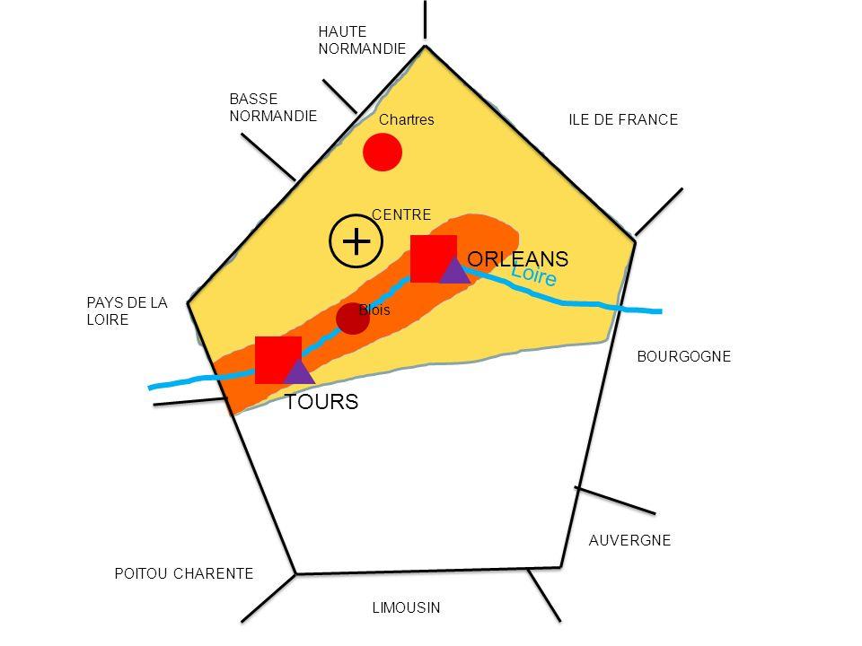 Loire BASSE NORMANDIE HAUTE NORMANDIE PAYS DE LA LOIRE POITOU CHARENTE LIMOUSIN AUVERGNE BOURGOGNE ILE DE FRANCE CENTRE TOURS ORLEANS Chartres Blois