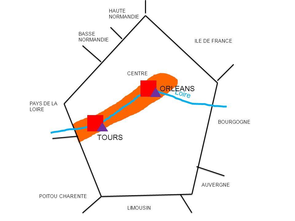 Loire BASSE NORMANDIE HAUTE NORMANDIE PAYS DE LA LOIRE POITOU CHARENTE LIMOUSIN AUVERGNE BOURGOGNE ILE DE FRANCE CENTRE TOURS ORLEANS