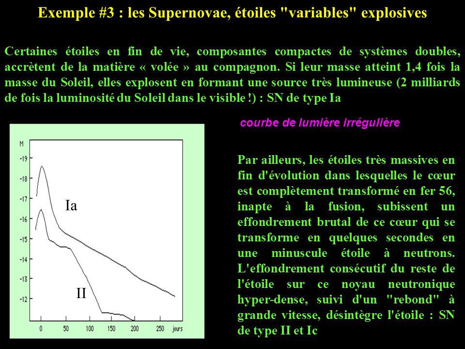 Exemple #3 : les Supernovae, étoiles