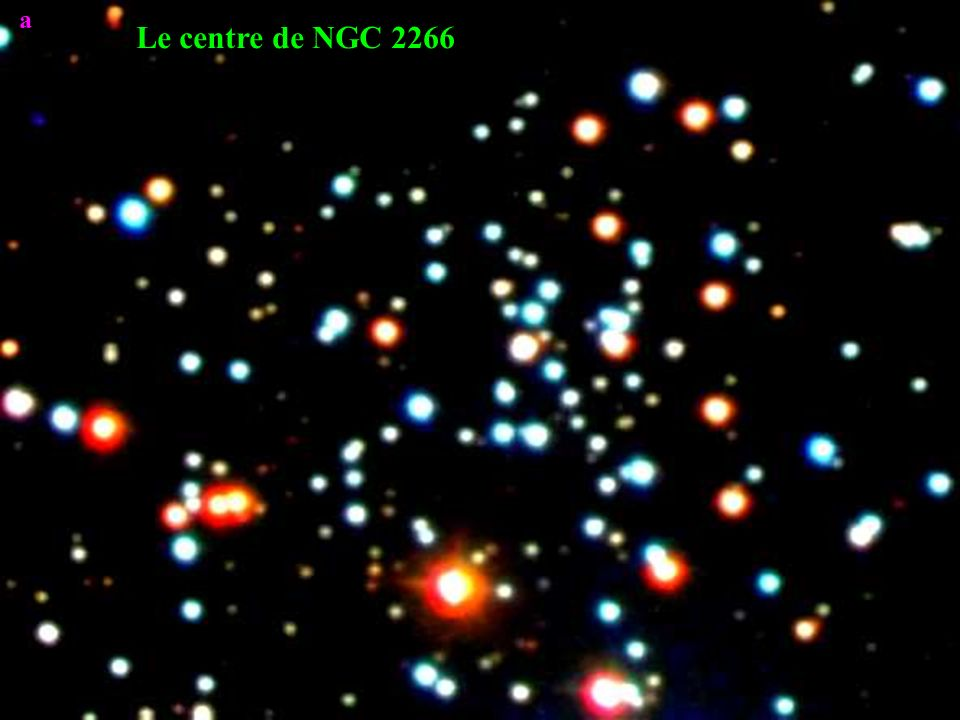a On mesure léclat des étoiles à travers deux filtres de couleurs différentes, en les isolant dans des diaphragmes appropriés.