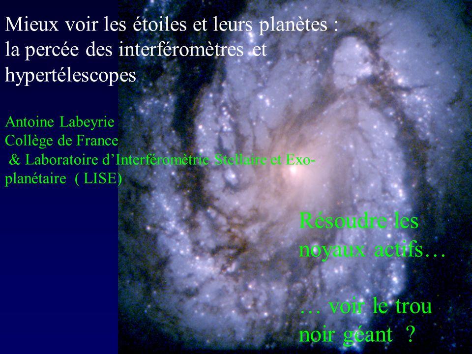 Interféromètre Marche encore avec deux éléments : image dégradée, mais sans perte de résolution Interféromètre Fizeau