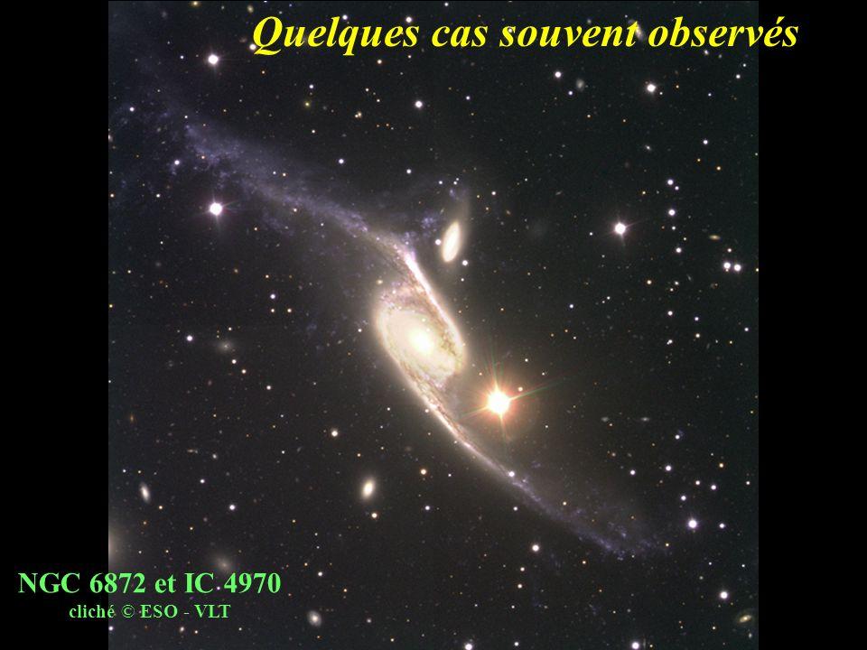 Quelques cas souvent observés NGC 6872 et IC 4970 cliché © ESO - VLT