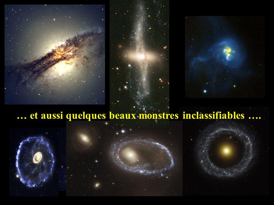 Lenticulaires Elliptiques Spirales La classification morphologique de Hubble pour les galaxies géantes