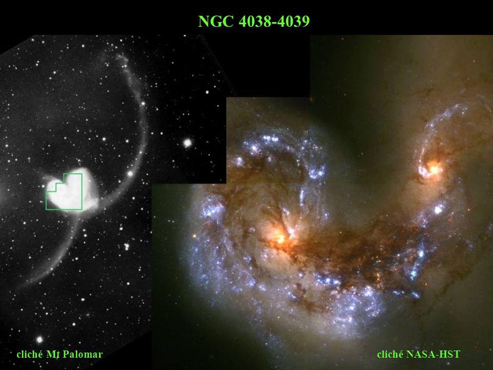 cliché Mt Palomar cliché NASA-HST NGC 4038-4039