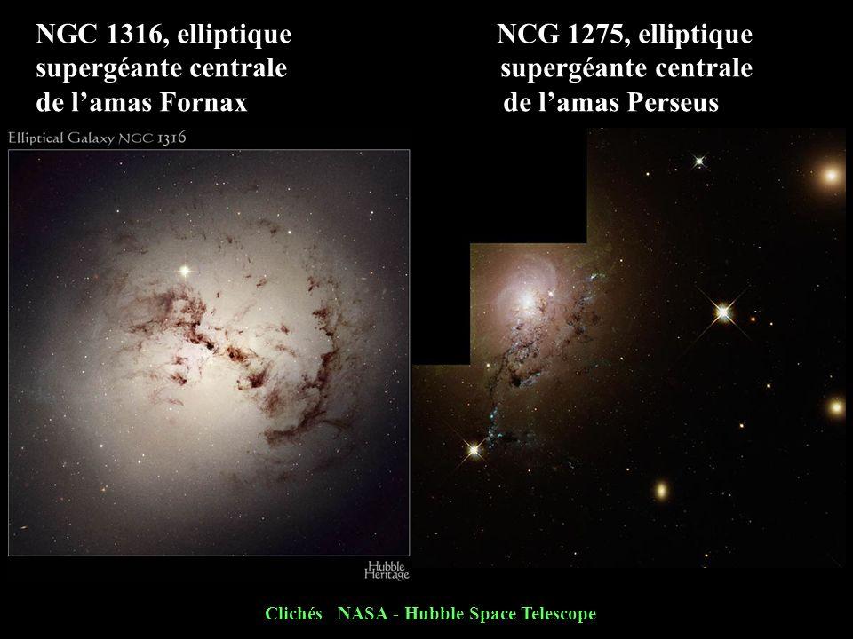 NGC 1316, elliptique NCG 1275, elliptique supergéante centrale de lamas Fornax de lamas Perseus Clichés NASA - Hubble Space Telescope