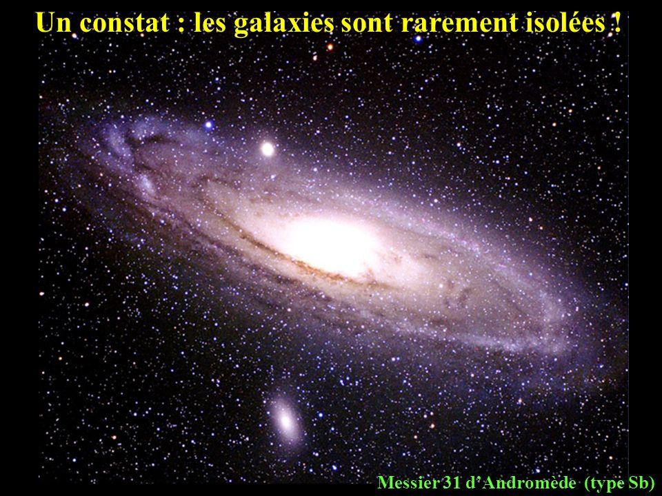 Messier 31 dAndromède (type Sb) Un constat : les galaxies sont rarement isolées !