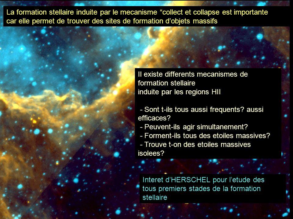 La formation stellaire induite par le mecanisme collect et collapse est importante car elle permet de trouver des sites de formation dobjets massifs I