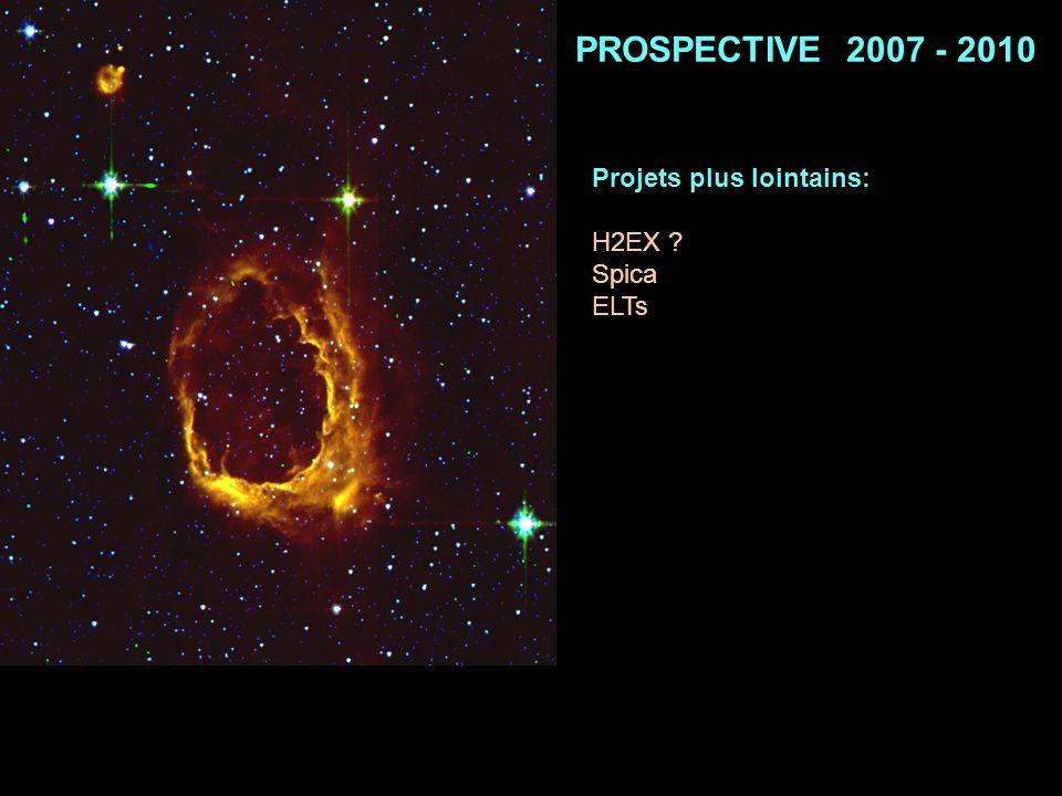 PROSPECTIVE 2007 - 2010 Projets plus lointains: H2EX ? Spica ELTs
