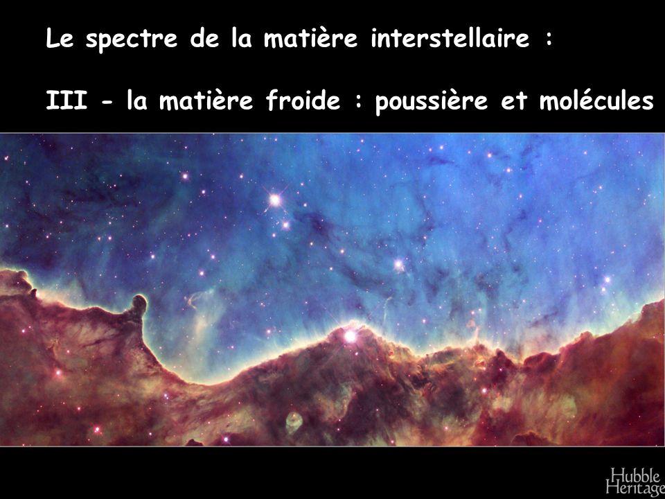 Le spectre de la matière interstellaire : III - la matière froide : poussière et molécules