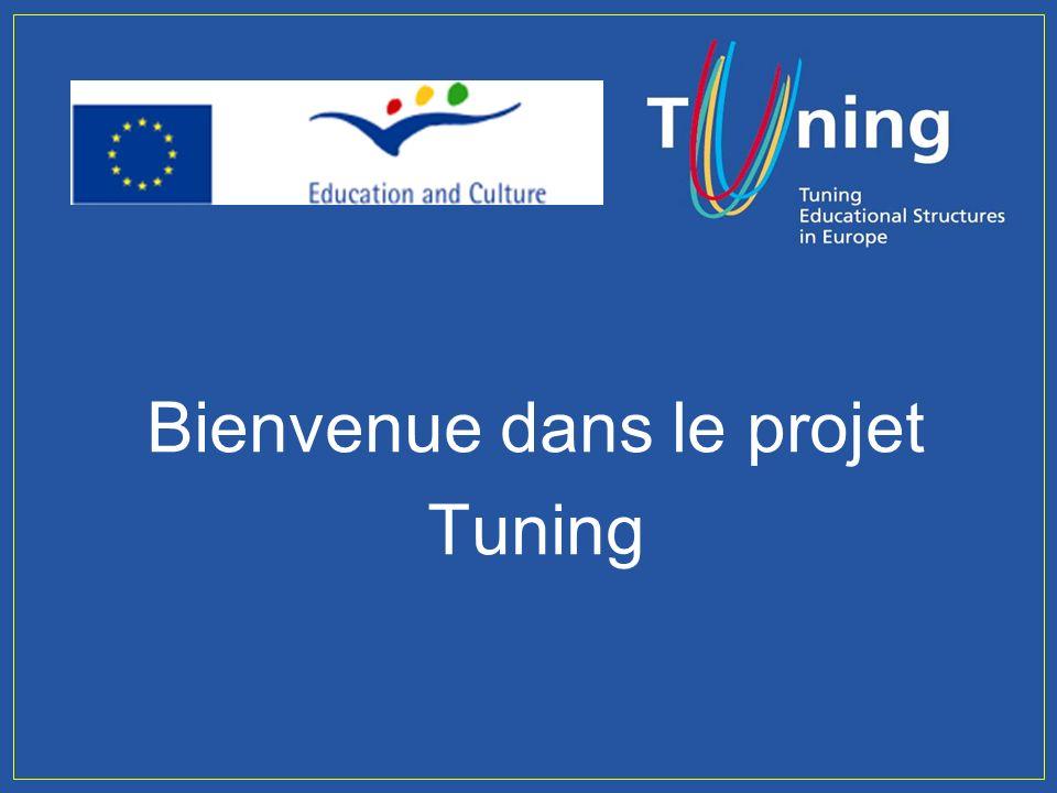 Management Committee Bienvenue dans le projet Tuning