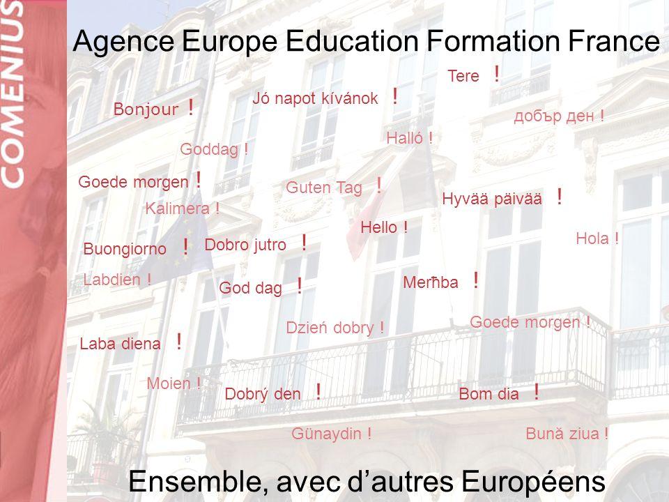 Le pilotage des partenariats scolaires COMENIUS www.2e2f.frwww.2e2f.fr (espace Comenius) Sinscrire comme utilisateur Consulter les pages QAS et E-quality 25 quai des Chartrons 33080 BORDEAUX CEDEX 05 56 00 94 22 enseignement.scolaire@2e2f.frenseignement.scolaire@2e2f.fr
