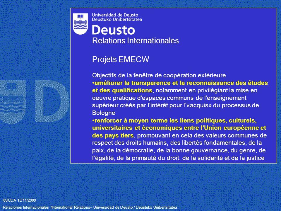 JCDA 13/11/2009 Relaciones Internacionales /International Relations– Universidad de Deusto / Deustuko Unibertsitatea La mapemonde officielle