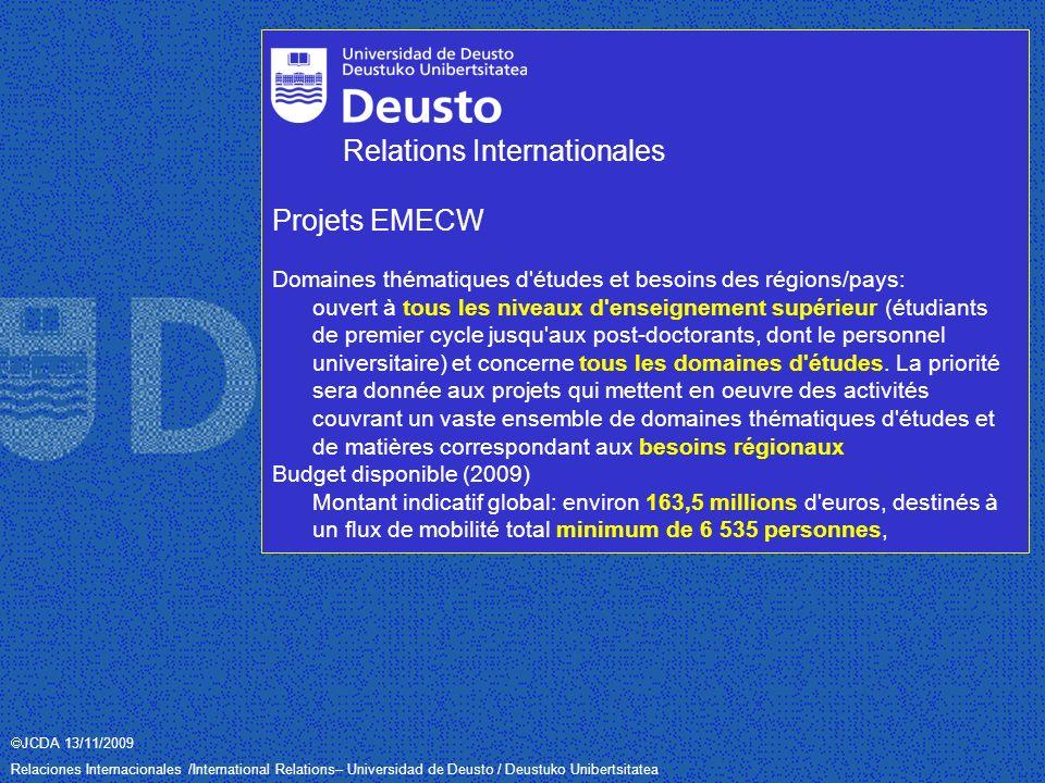 JCDA 13/11/2009 Relaciones Internacionales /International Relations– Universidad de Deusto / Deustuko Unibertsitatea Merci beaucoup.