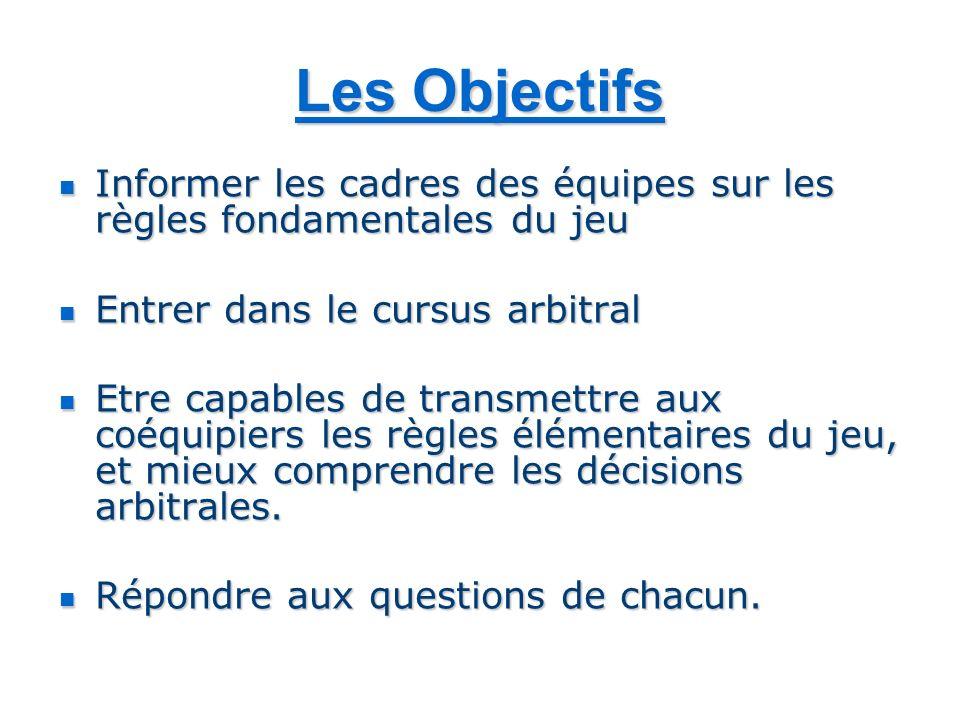 La Mission Les Arbitres sont les garants du respect des règles du jeu, et de lEsprit Touch.