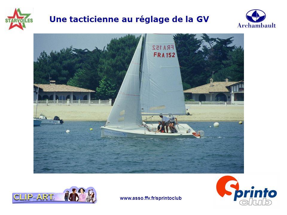 www.asso.ffv.fr/sprintoclub Une tacticienne au réglage de la GV
