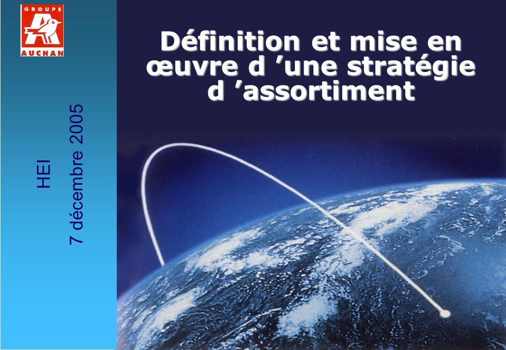 1E CASSAGNE H EI - 7/12/2005 Définition et mise en œuvre d une stratégie d assortiment HEI 7 décembre 2005