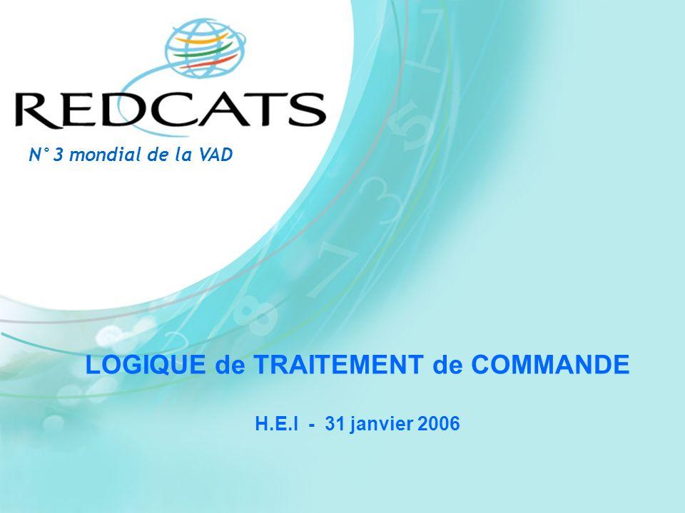 LOGIQUE de TRAITEMENT de COMMANDE H.E.I - 31 janvier 2006 N°3 mondial de la VAD