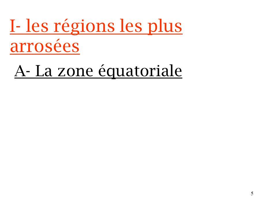 4 I- les régions les plus arrosées Dans la marge, je note le numéro du document étudié. Carte p. 188 189