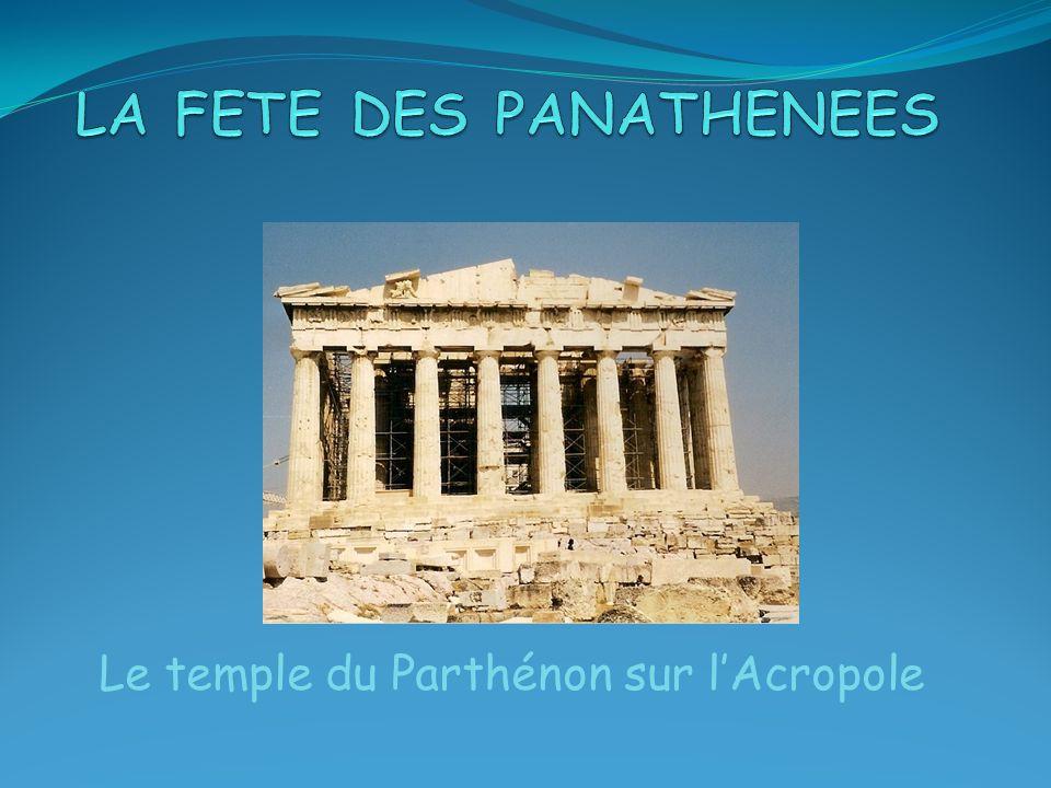 Le temple du Parthénon sur lAcropole