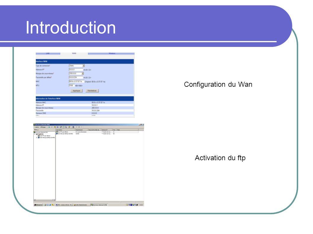 Configuration du routeur SSID: nom du réseau Diffusion: visibilité Balises: envoie d un signal