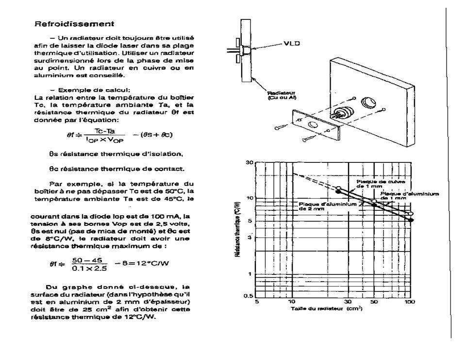 Faites apparaître sur le schéma la tension de consigne Vc et la tension de retour Vr La sensibilité de la photodiode est de 0.225A/W Donner la représentation sous forme de Blocs fonctionnels de l asservissement .