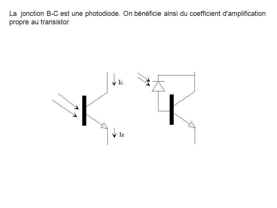La jonction B-C est une photodiode. On bénéficie ainsi du coefficient d'amplification propre au transistor