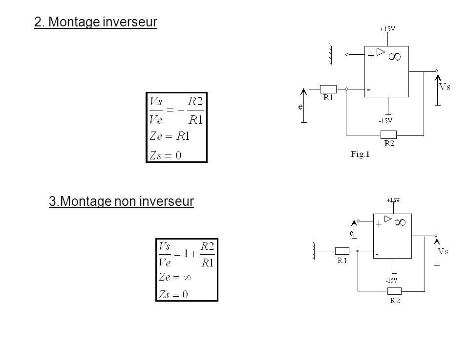 2. Montage inverseur 3.Montage non inverseur