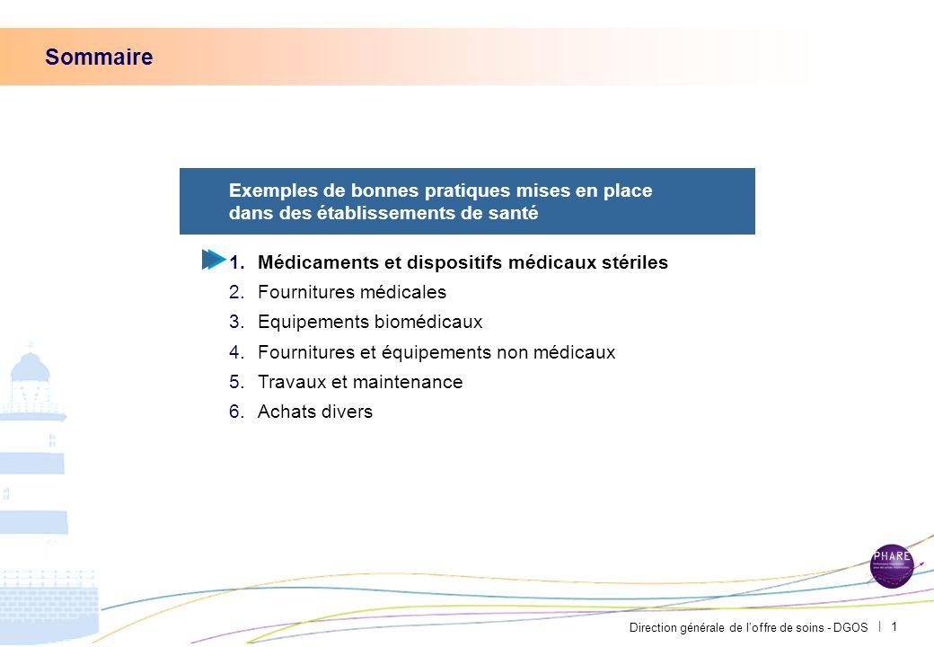 Direction générale de loffre de soins - DGOS   21 Annexes