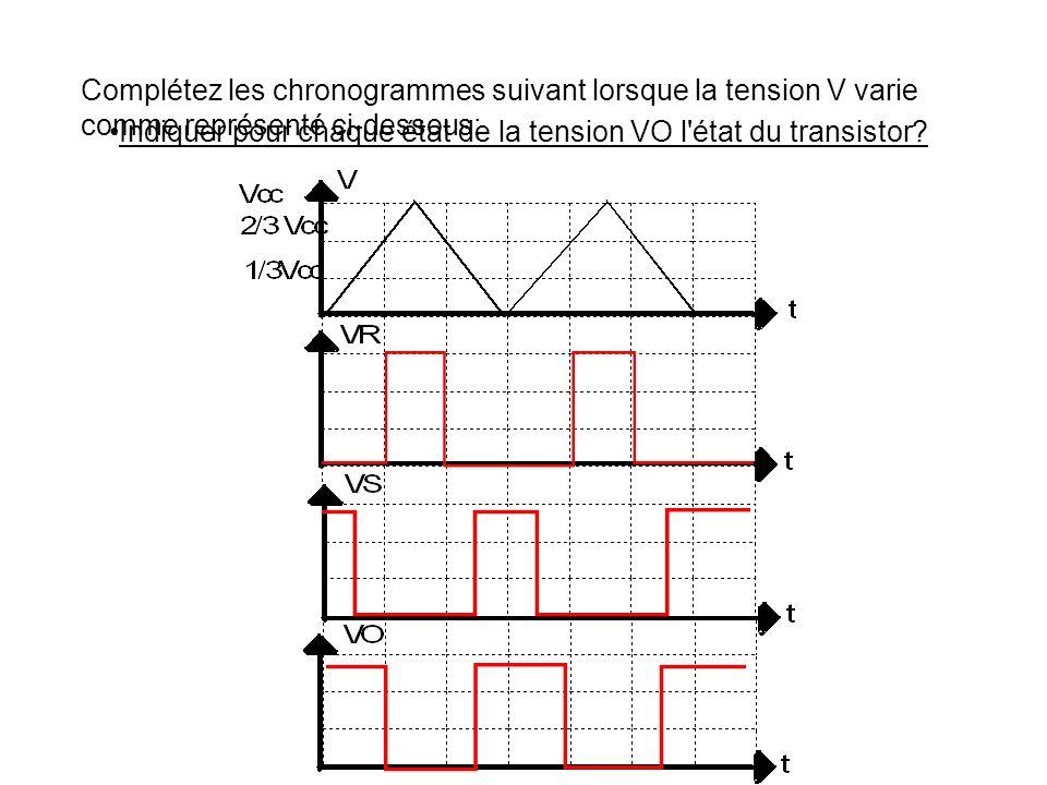 F.2) Soit le montage suivant: Quelle est la valeur de la tension V+ du comparateur 2 ? Quelle est la tension V- du comparateur 1 ?