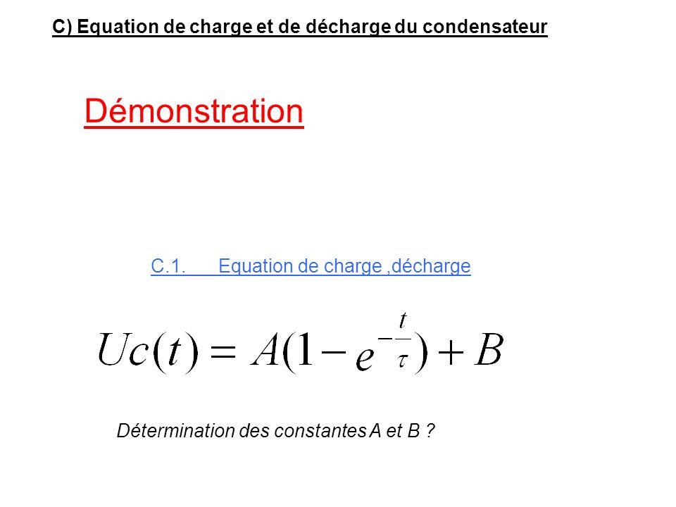 B.4) Représenter graphiquement l'allure des signaux Uc(t) et Vo(t) T=0, Uc=0 et V0=VCC