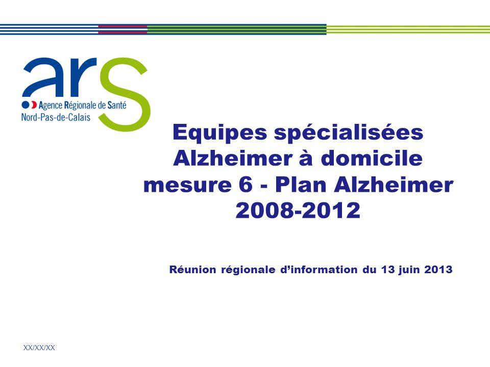 2 2 Mesure 6 : bilan national en avril 2013 ESAD : financement des 500 équipes (5 000 places) finalisé en 2013: 75 M notifiés entre 2010 et 2014 (2014 pour les crédits deffet année pleine des mesures nouvelles 2013 allouées sur 6 mois).