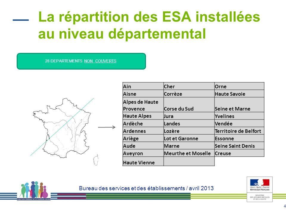 5 Le déploiement des ESAD : bilan régional 26 autorisations sur 27 en mai 2013 : 2 autorisées depuis 2009 dans le cadre de lexpérimentation nationale (Dunkerque et Bully les mines) 7 autorisées en 2010 (Aulnoye les valenciennes, Thumeries, Wasquehal, Lallaing, Le Quesnoy, Ardres, St Pol sur Ternoise) 8 autorisées en 2011 (Aire sur la Lys, Bailleul, Caudry, Ecoust st Mein, Lallaing 2, Linselles, Locon, Montreuil/Beaurainville) 8 autorisées en 2012 (Fourmies, Dunkerque 2 Linselles 2, Roubaix, Tourcoing, Denain, Béthune, Carvin) 1 autorisée en 2013 : Fournes en Weppes 21 en fonctionnement, 5 à venir ( Linselles 2, Roubaix, Tourcoing, Béthune, Fournes en Weppes)
