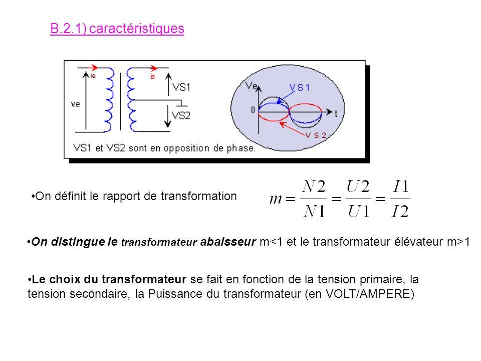 B.2) La fonction adapter Son rôle est de transformer une tension sinusoïdale en une autre tension sinusoïdale. Elle est assurée par un transformateur.