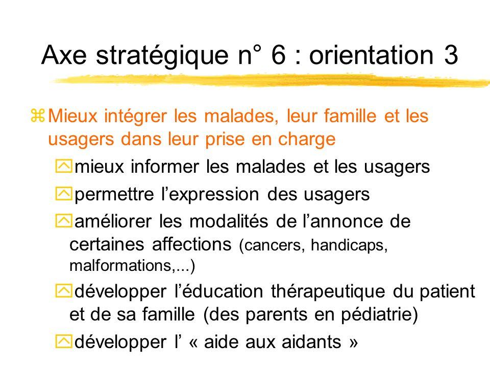 Axe stratégique n° 6 : orientation 4 zSoutenir le développement des missions dintérêt général, notamment celles peu présentes dans la région yValorisation de certaines activités