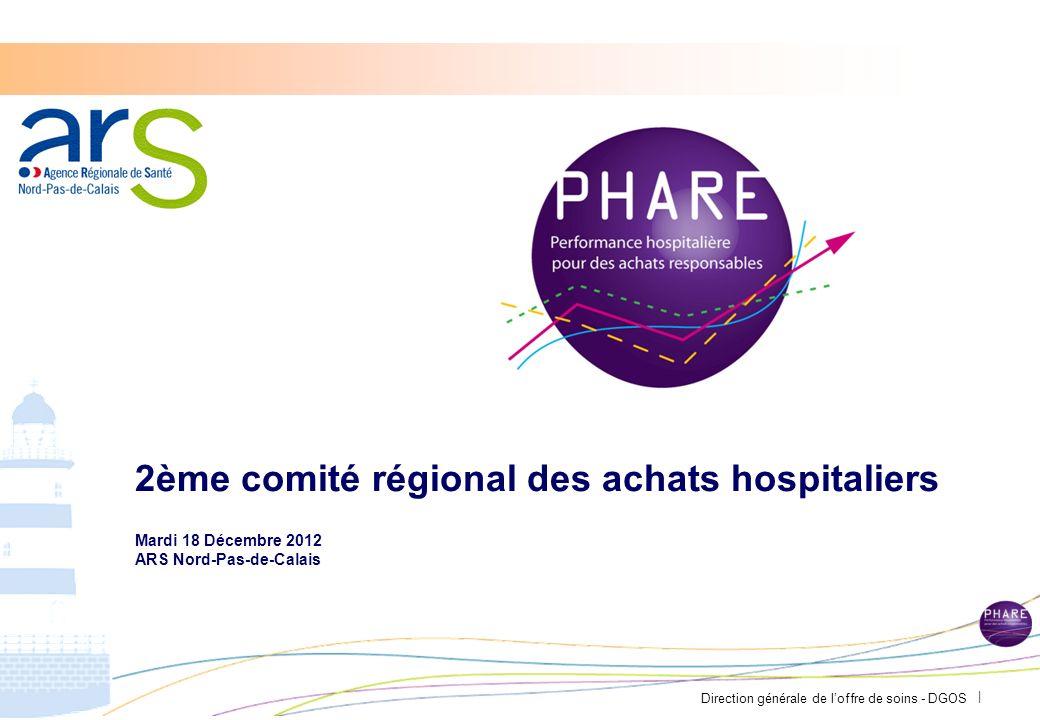 Direction générale de loffre de soins - DGOS | 2ème comité régional des achats hospitaliers Mardi 18 Décembre 2012 ARS Nord-Pas-de-Calais