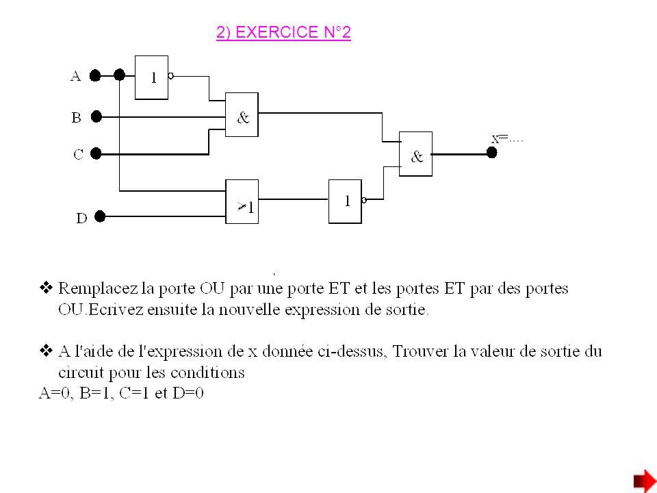 2) EXERCICE N°2