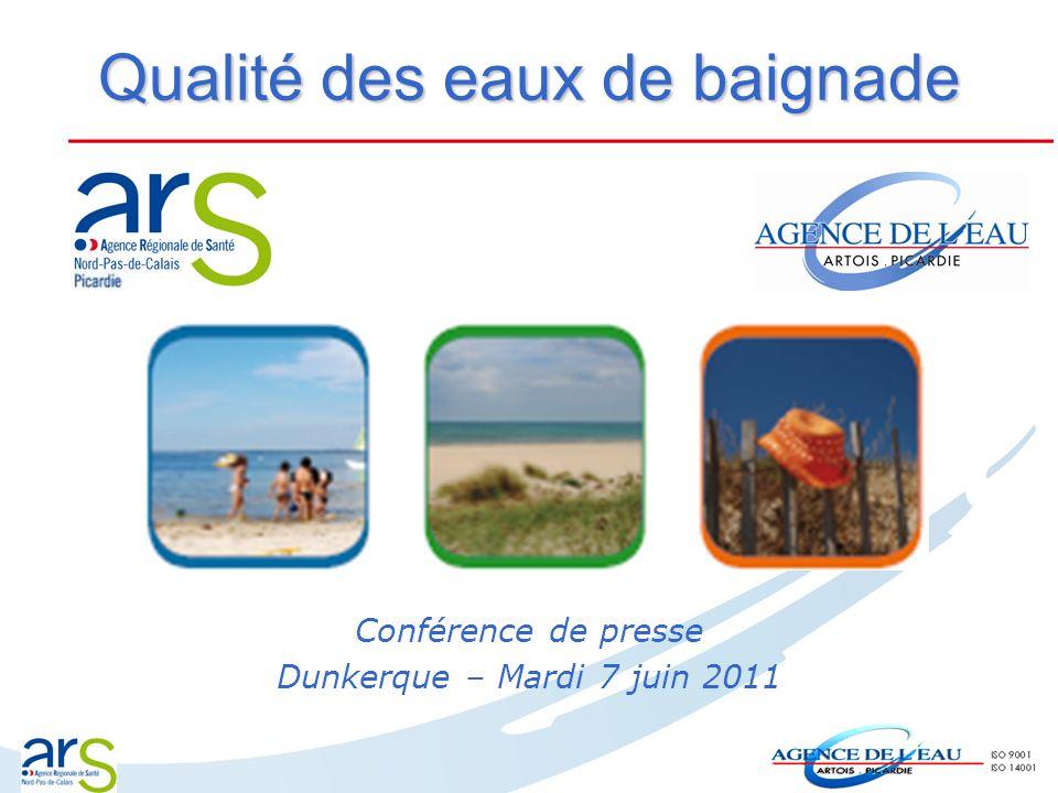Qualité des eaux de baignade Conférence de presse Dunkerque – Mardi 7 juin 2011