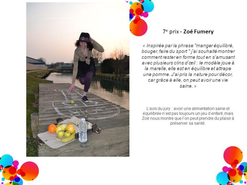 7 e prix - Zoé Fumery « Inspirée par la phrase