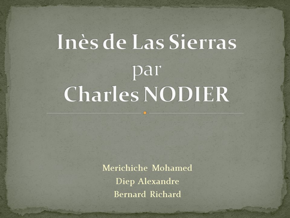 Merichiche Mohamed Diep Alexandre Bernard Richard