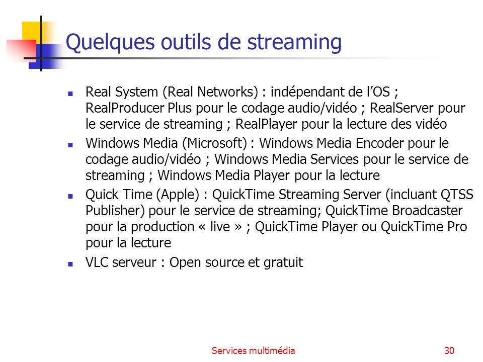 Services multimédia31 Quelques players de streaming Quick Time Le Player dApple.