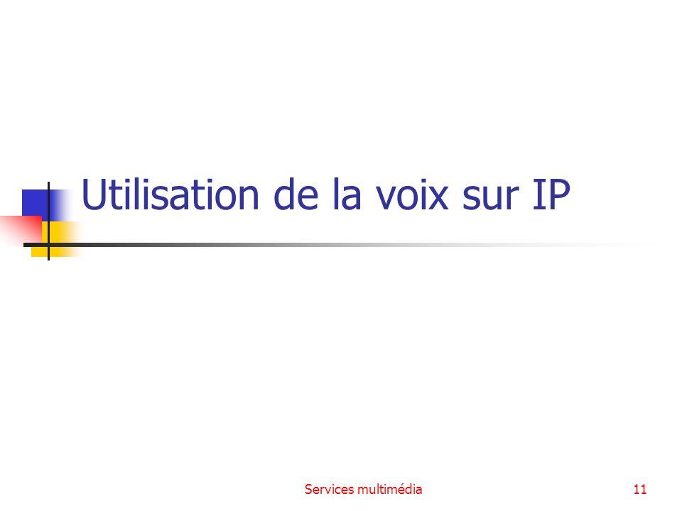 Services multimédia11 Utilisation de la voix sur IP