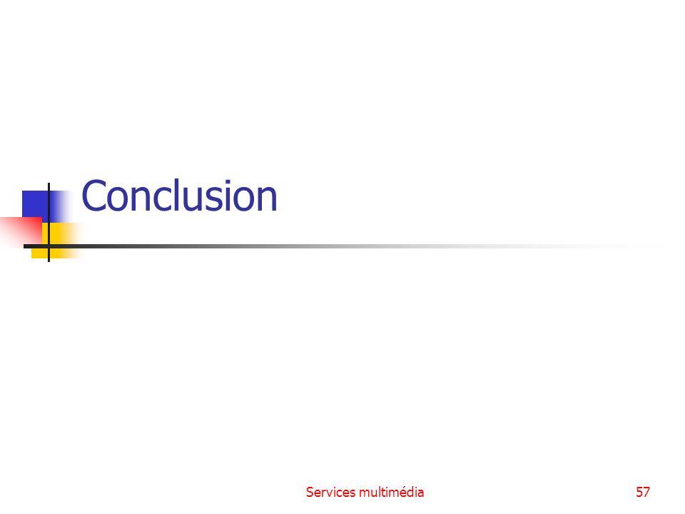 Services multimédia57 Conclusion