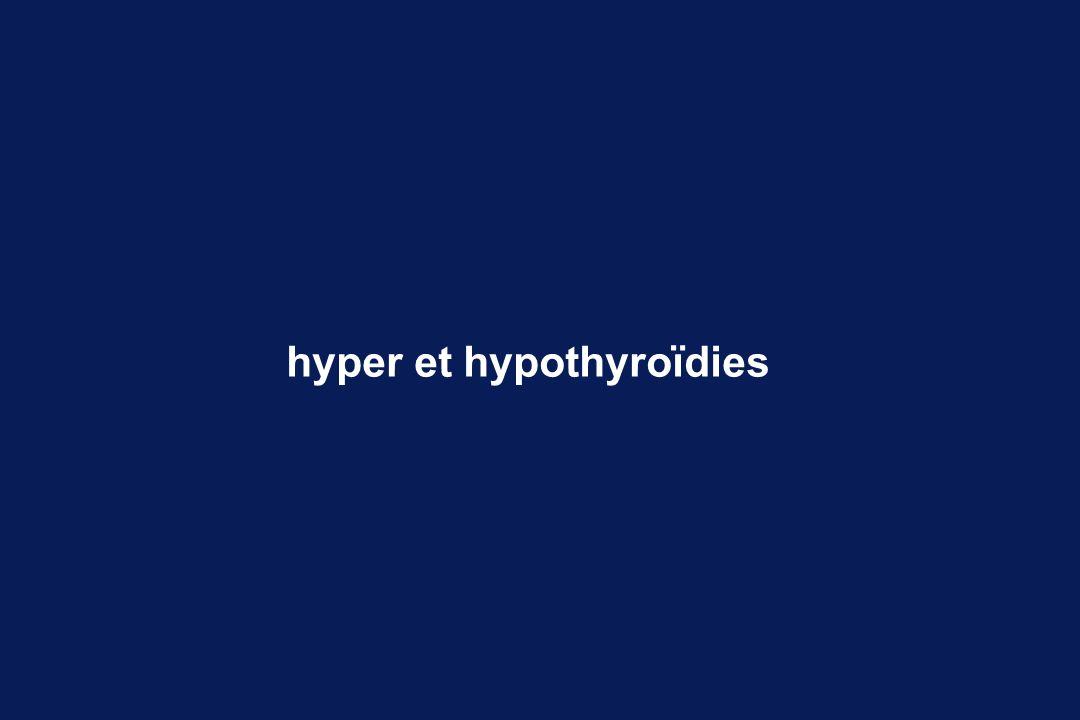 L hyperthyroïdie de l adulte maladie de Basedow T3élevée T4 élevée TSHbasse Traitement anti-thyroïdiens chirurgie iode radioactif