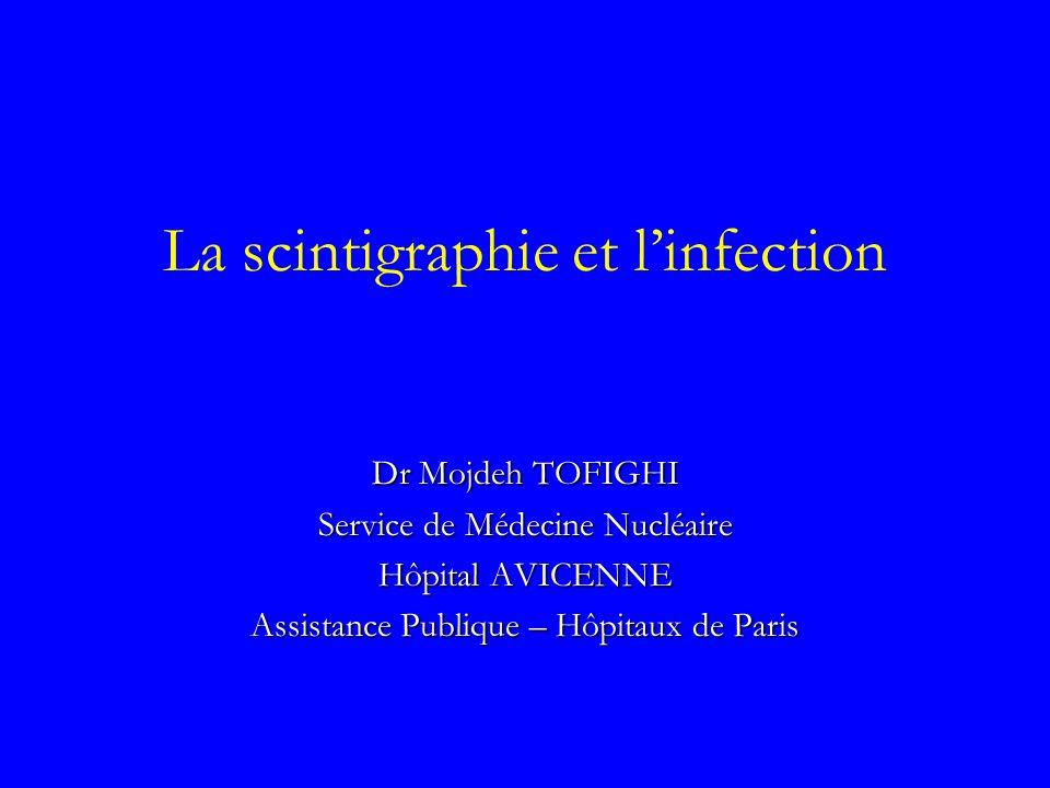 La scintigraphie et linfection Dr Mojdeh TOFIGHI Service de Médecine Nucléaire Hôpital AVICENNE Assistance Publique – Hôpitaux de Paris