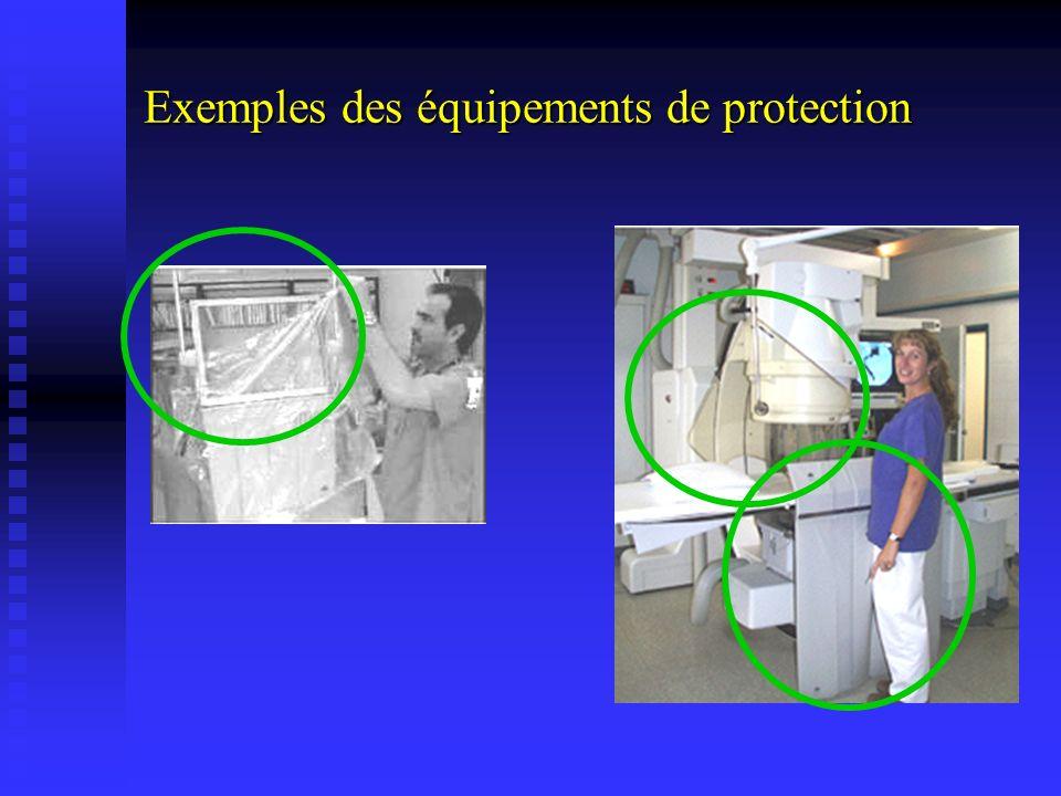 Exemples des équipements de protection