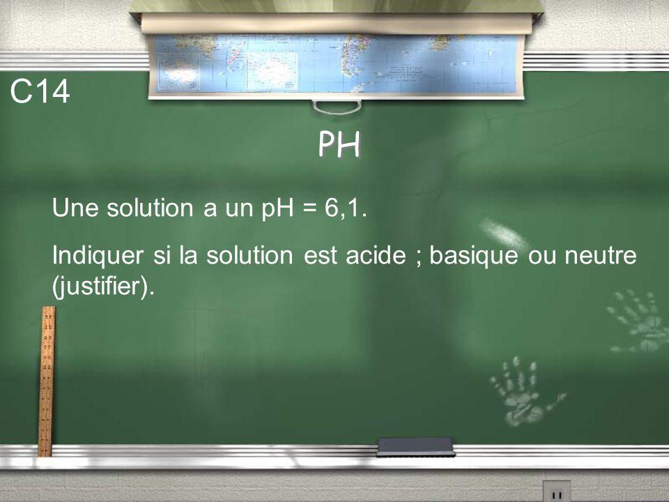 Molécules - Réaction chimique C13 CH 4 + 2 O 2 2 H 2 O + CO 2 Quel volume occupe 10 moles de dioxygène ? On donne : volume molaire dans les conditions