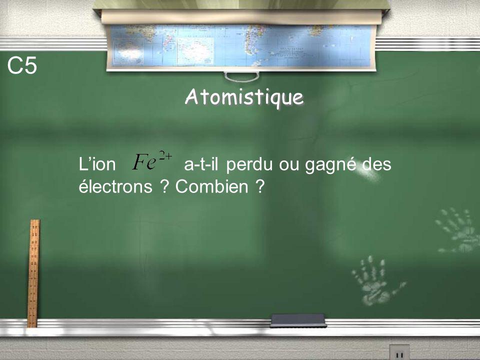 Atomistique C4 Lion est-il un cation ou un anion ?