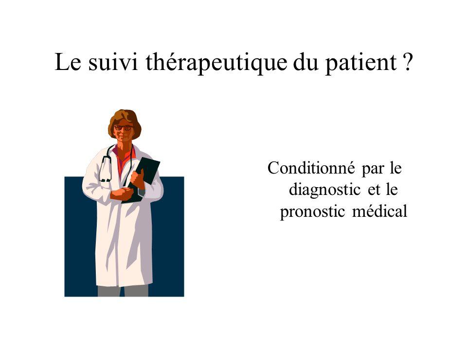 Le suivi thérapeutique du patient ? Conditionné par le diagnostic et le pronostic médical