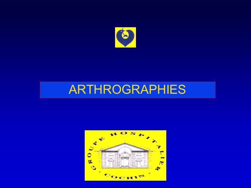 ARTHROGRAPHIES