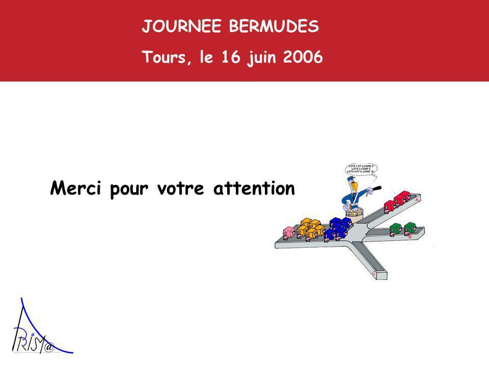Merci pour votre attention JOURNEE BERMUDES Tours, le 16 juin 2006